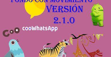 Coocoo whatsapp para android fondo con movimiento